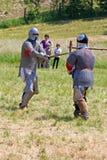 Pojedynek dwa rycerza Zdjęcia Royalty Free
