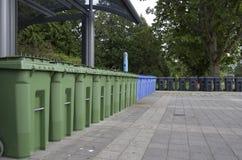 Pojemnik na śmiecie stacja Obraz Stock
