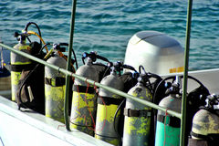 pojemniki akwalungów Fotografia Royalty Free