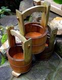 pojemniki z drewna Obraz Royalty Free
