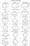 Pojemność 3D kształty - wektor Fotografia Stock