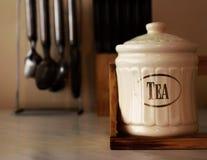 Pojemność dla herbaty fotografia stock