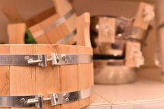 Pojemność, wodna synklina robić drewno Fotografia Stock