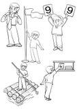 pojkar Vektor Illustrationer
