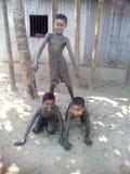 3 pojkar Arkivbilder