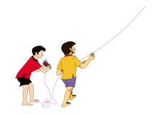 pojkar Stock Illustrationer