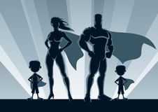 Pojkar för Superherofamilj 2 Royaltyfria Foton