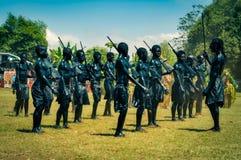Pojkar i svart i Papua Nya Guinea Royaltyfria Bilder