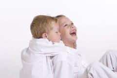 pojkar två barn Royaltyfri Foto