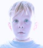 Pojke över utsatt Royaltyfria Foton
