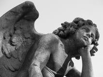 Pojke Angel Looking in mot himmel Royaltyfria Foton