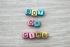 Pojke- eller flickatecken Royaltyfri Fotografi
