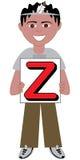 Pojke för bokstav Z Arkivbild