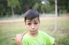 Pojke för gröna ögon i PA Arkivbild