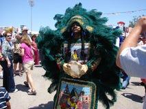 Pojke för New Orleans jazz- & arvfestivalfluga Royaltyfria Bilder