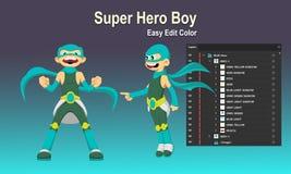 Pojke för toppen hjälte vektor illustrationer