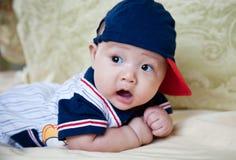 pojke förvånad little Royaltyfria Foton