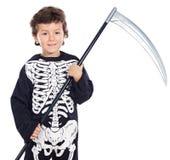 pojke halloween Arkivbild