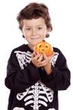 pojke halloween Arkivbilder