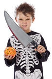 pojke halloween Royaltyfria Bilder