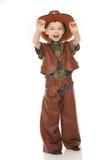 Pojke i cowboydräkt Arkivbilder