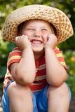 Pojke i en sombrero Arkivbilder