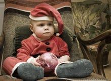 Pojke i en passadvärg Arkivfoto