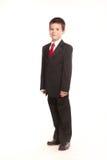 Pojke i official dresscode Arkivbild