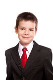 Pojke i official dresscode Arkivbilder