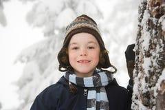 Pojke i snow Royaltyfri Fotografi