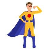 Pojke i superherodräkt Arkivbild