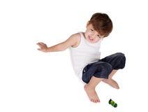 pojke isolerad white Fotografering för Bildbyråer