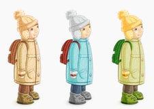 pojke little royaltyfri illustrationer
