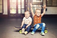 pojke little Arkivfoton
