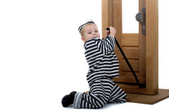 pojke little dräkttjuv Royaltyfri Fotografi