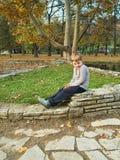 pojke little park Arkivfoto