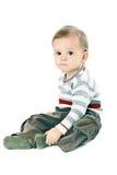 pojke little pulloverremsa Royaltyfri Bild