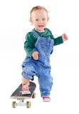 pojke little skateboard Arkivbild