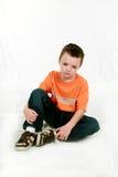 pojke little som är SAD Fotografering för Bildbyråer