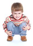 pojke little som leker Royaltyfria Foton