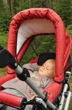 pojke little sova för pram Arkivfoto