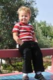 pojke little stående Royaltyfri Bild