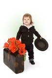 pojke little välkomnande royaltyfri fotografi
