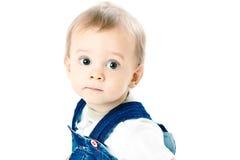 pojke little white för skjorta t Arkivbild