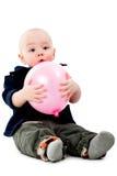 Pojke med ballongen Arkivfoton