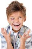 Pojke med blåmärket arkivfoto