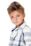 Pojke med blåmärket royaltyfria bilder