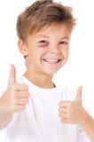 Pojke med blåmärket arkivbilder