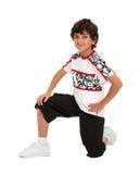 Pojke med den Hip Hop inställningen Royaltyfria Bilder