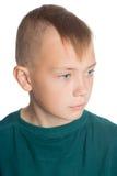 Pojke med den stilfulla trendiga frisyren Fotografering för Bildbyråer